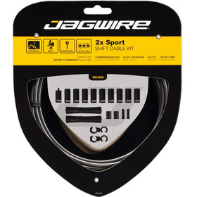 Jagwire 2X Sport Shift Schakelkabel Set voor Shimano/SRAM, ice grey